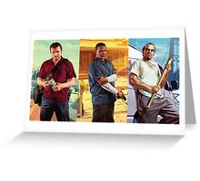 Michael, Franklin and Trevor  Greeting Card