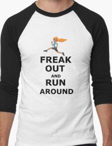 Freak out and Run around Men's Baseball ¾ T-Shirt