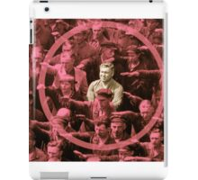 Closeup of the Hero August Landmesser iPad Case/Skin