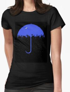 City Rain Womens Fitted T-Shirt