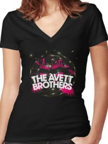 AVETT BROTHERS Women's Fitted V-Neck T-Shirt