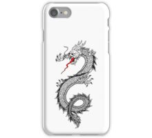 DRAGON, Cinese, Tattoo, Snake, Oriental, Far East, Tattoo, on White iPhone Case/Skin