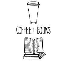 Coffee + Books Photographic Print
