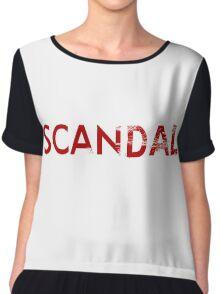 scandal logo Chiffon Top