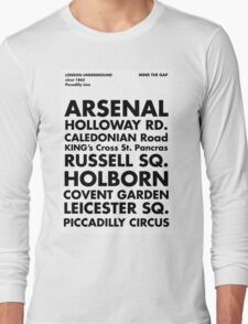 Piccadilly Line in Futura Long Sleeve T-Shirt