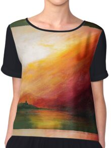 The In-rolling Walls of the Fog... Chiffon Top