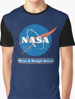 NASA Never A Straight Answer Graphic T-Shirt