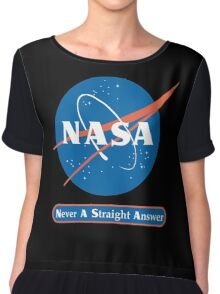 NASA Never A Straight Answer Chiffon Top