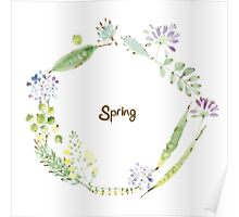 Spring No.2 wreath Poster
