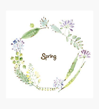 Spring No.2 wreath Photographic Print
