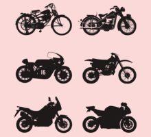 History of Honda Motorcycles Kids Tee