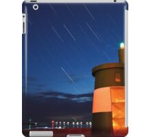 Star trails with harbour scene iPad Case/Skin