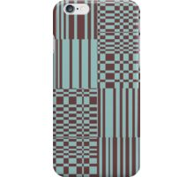 Hip Retro Geometric Tile Dusty Teal and Puce iPhone Case/Skin