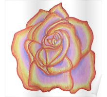 Red and Orange Rose Poster