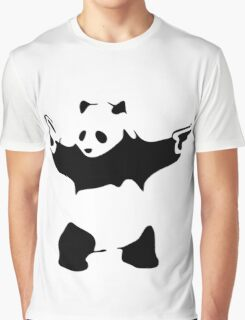 Funny Gangster Panda Graphic T-Shirt