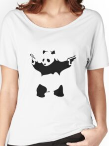Funny Gangster Panda Women's Relaxed Fit T-Shirt