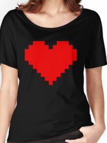 Pixel Heart Women's Relaxed Fit T-Shirt