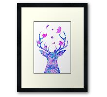 Flying Amongst the Antlers  Framed Print