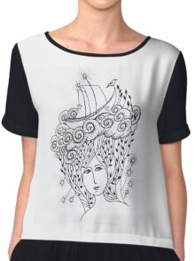 sea girl Chiffon Top