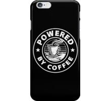Powered by Coffee. iPhone Case/Skin