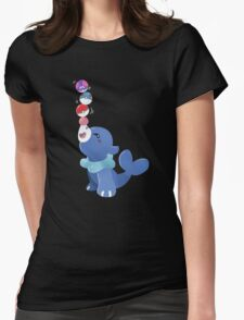 Balancing the balls Womens Fitted T-Shirt