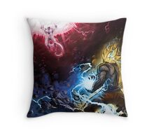 Goku VS Freezer Throw Pillow