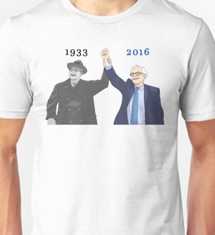 Franklin D. Roosevelt & Bernie Sanders   1933 2016 Years Unisex T-Shirt