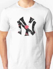 New York Yankees Flower Fanart Unisex T-Shirt