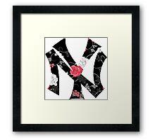 New York Yankees Flower Fanart Framed Print