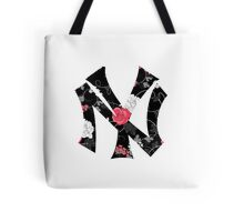 New York Yankees Flower Fanart Tote Bag