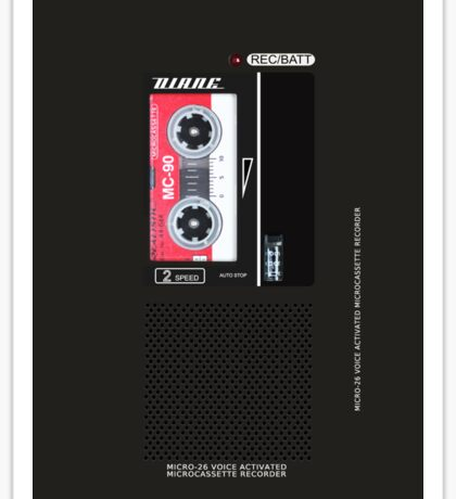 Dale Cooper's Tape Recorder (Diane) iPhone Case  Sticker