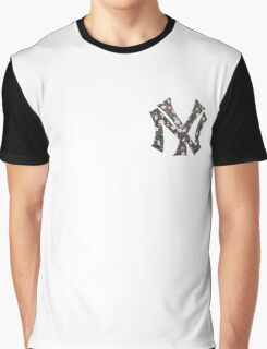 New York Yankees Floral 2 FanArt Graphic T-Shirt