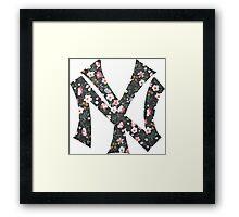 New York Yankees Floral 2 FanArt Framed Print