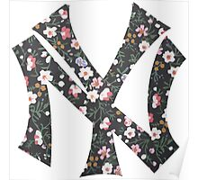 New York Yankees Floral 2 FanArt Poster