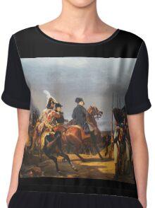 A Napoleonic War At Versailles Chiffon Top
