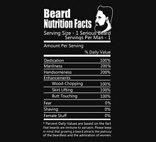 Beard - Beard Nutrition Facts Unisex T-Shirt