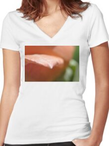 Rose point Women's Fitted V-Neck T-Shirt