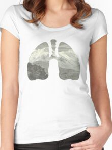 Mountains in my lungs Women's Fitted Scoop T-Shirt