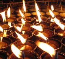 Tibetan Buddhist Butter Lamps Sticker