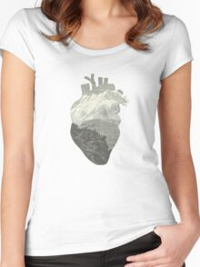 Mountains in my heart Women's Fitted Scoop T-Shirt