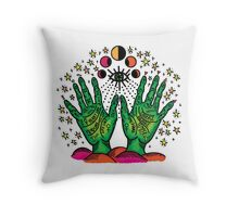 Earth Palm Throw Pillow