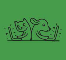 Cat & Dog Internet Users Baby Tee