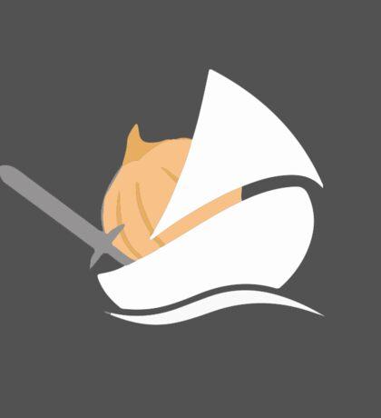The Onion Knight in Gray Sticker