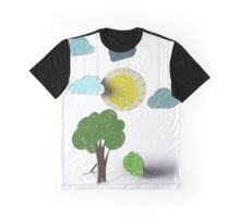 Sunny Day 3D Paper Craft Graphic T-Shirt