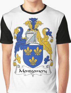 Montgomery Coat of Arms / Montgomery Family Crest Graphic T-Shirt