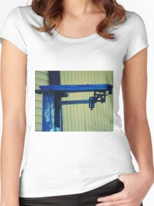 Vintage Train Scale Women's Fitted Scoop T-Shirt