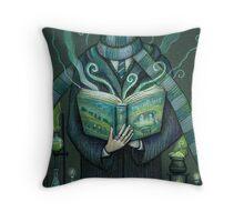 Books magic green Throw Pillow