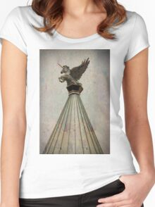 Unicorn On High 3 Women's Fitted Scoop T-Shirt