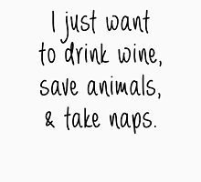Drink Wine, Save Animals and Take Naps Women's Tank Top