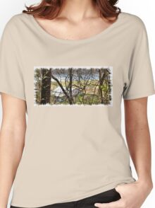 """A Sneak Peek of the Old Farm and the Tale Behind It""... prints and products Women's Relaxed Fit T-Shirt"